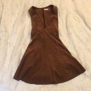 Aritzia Wilfred Suede Dress